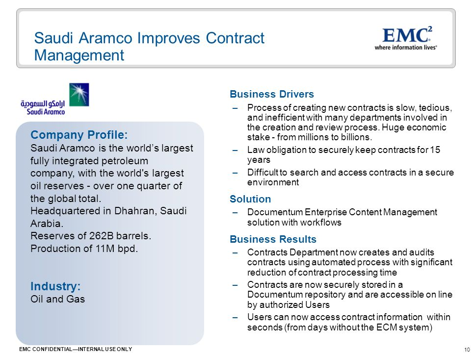 Saudi Aramco Improves Contract Management