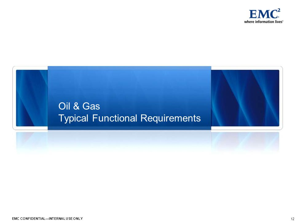 Oil & Gas Typical Functional Requirements