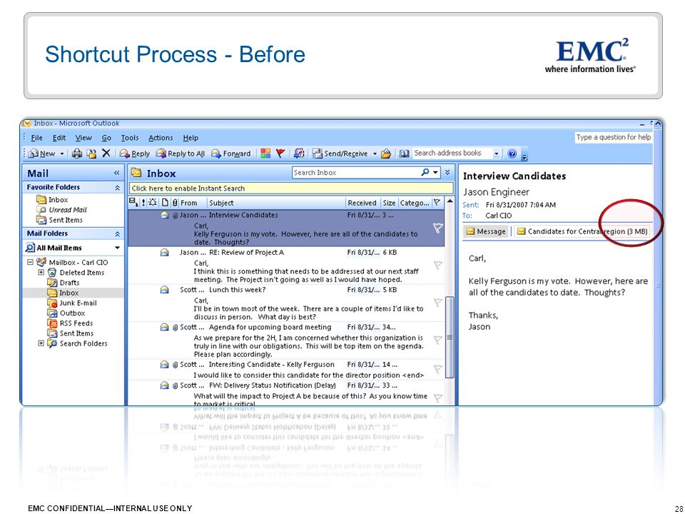 Shortcut Process - Before