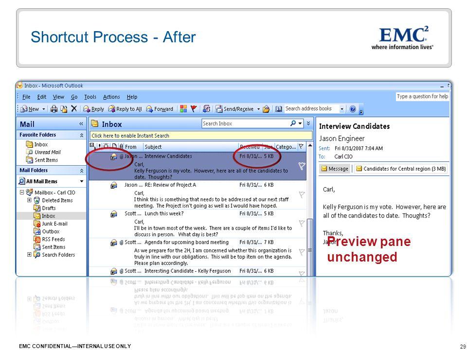 Shortcut Process - After