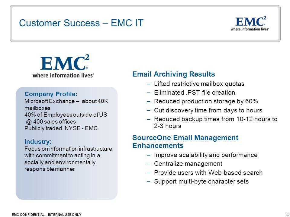 Customer Success – EMC IT