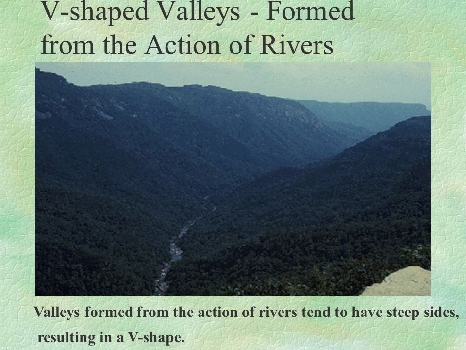 V-shaped Valleys - Formed from the Action of Rivers