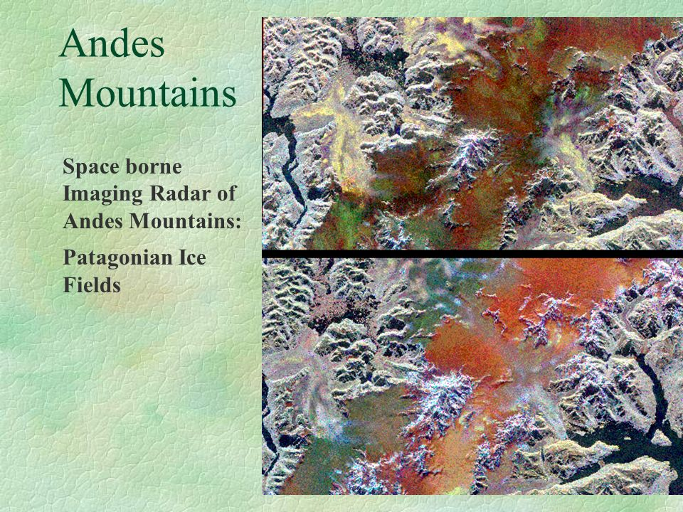 Andes Mountains Space borne Imaging Radar of Andes Mountains: