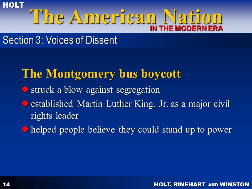 The Montgomery bus boycott