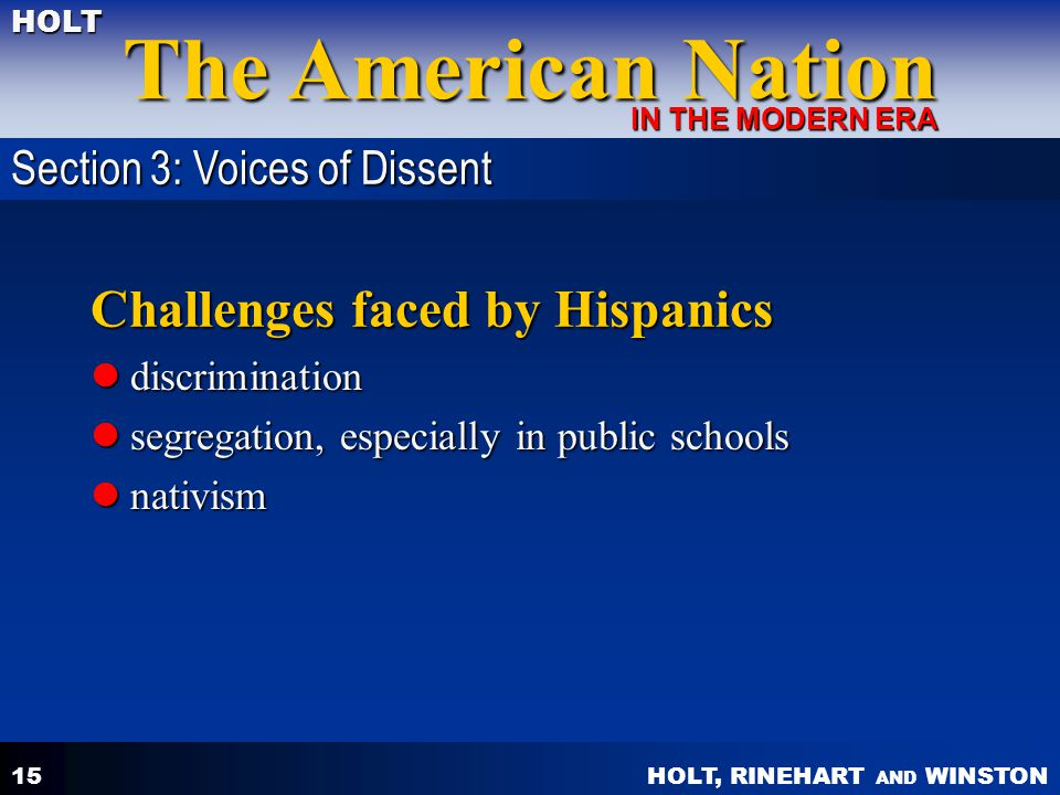 Challenges faced by Hispanics