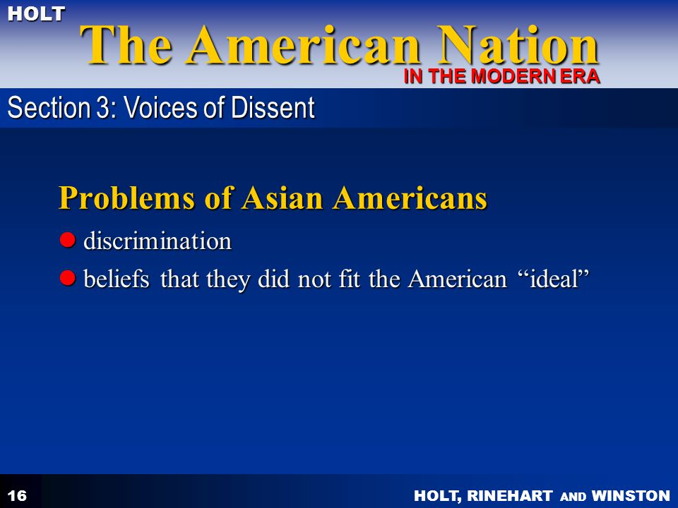 Problems of Asian Americans