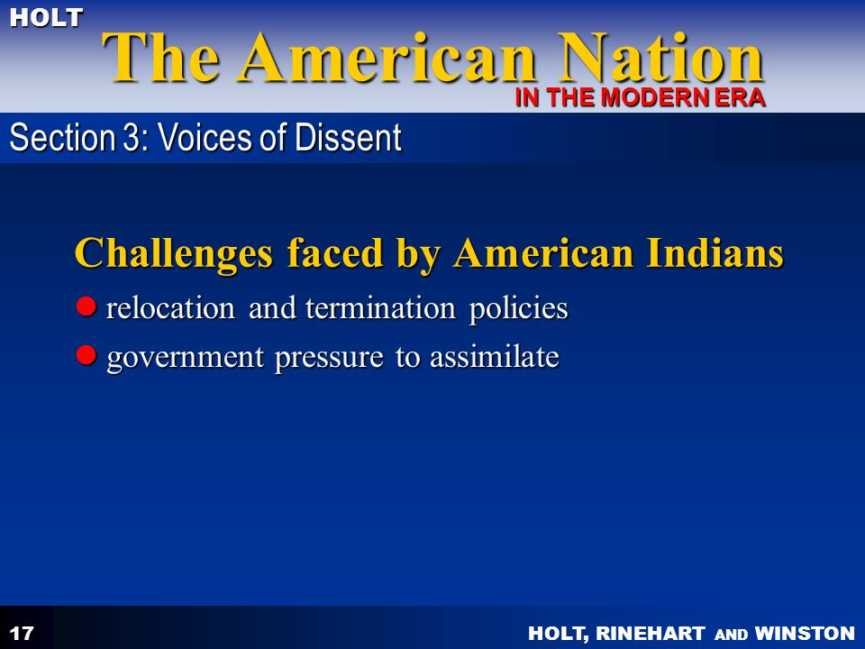 Challenges faced by American Indians