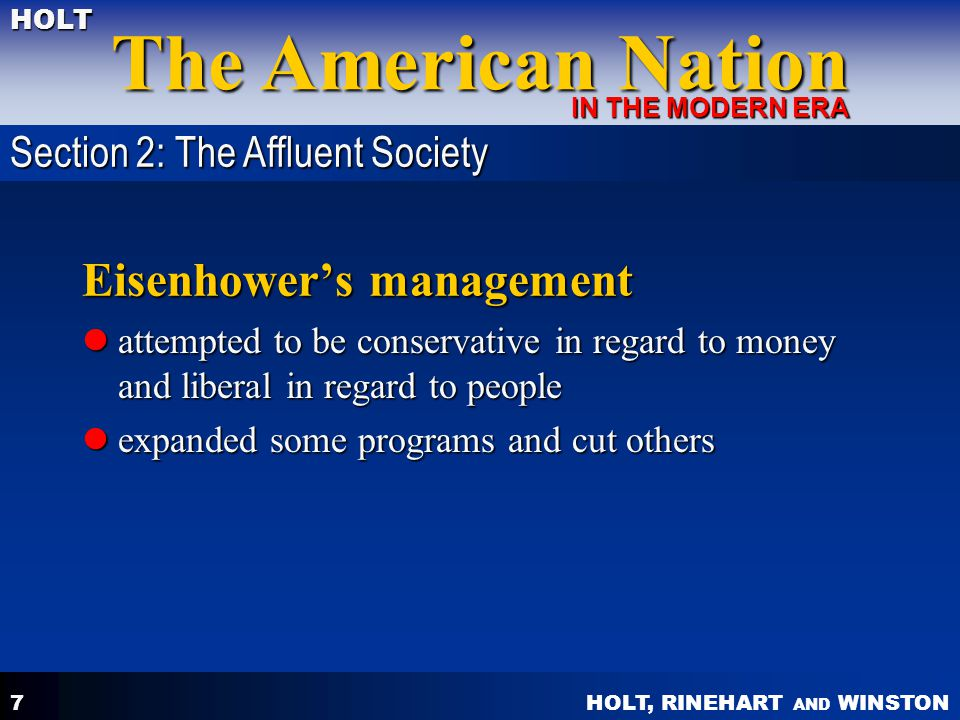 Eisenhower's management