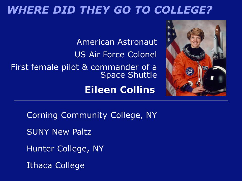 Eileen Collins American Astronaut US Air Force Colonel
