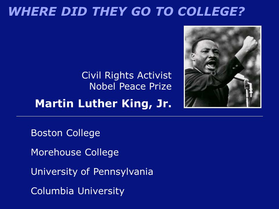 Martin Luther King, Jr. Civil Rights Activist Nobel Peace Prize