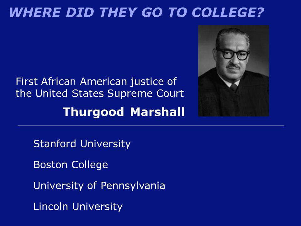 First African American justice of the United States Supreme Court