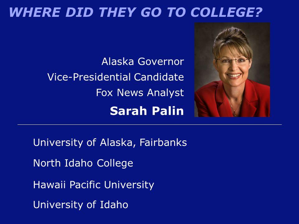 Sarah Palin Alaska Governor Vice-Presidential Candidate