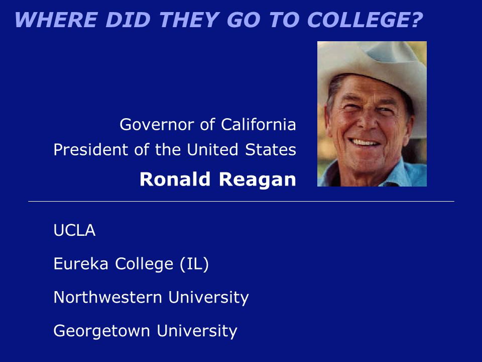 Ronald Reagan Governor of California President of the United States