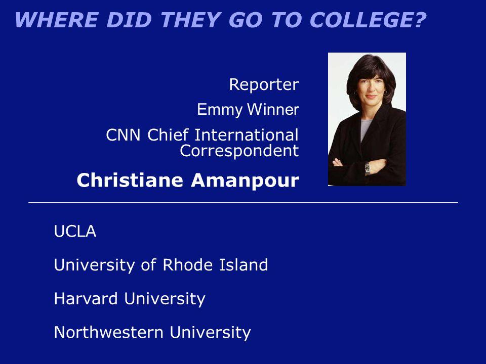 Christiane Amanpour Reporter Emmy Winner