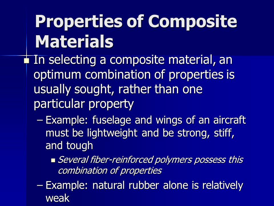 Properties of Composite Materials