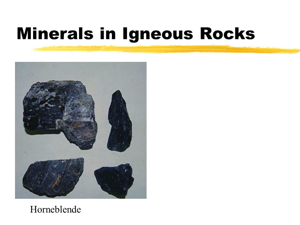 Minerals in Igneous Rocks