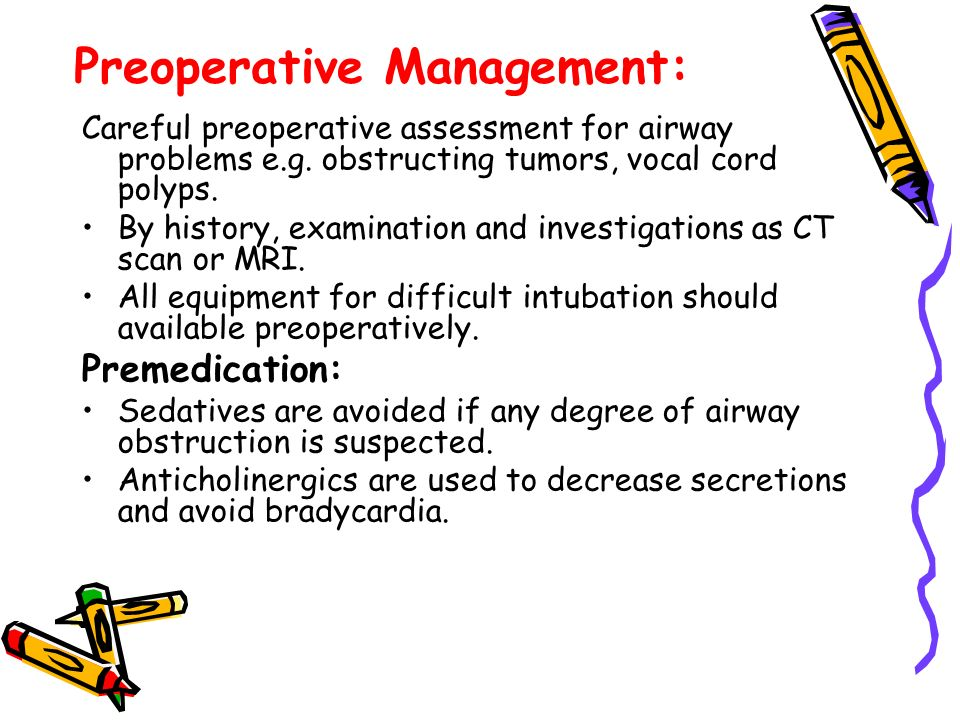 Preoperative Management:
