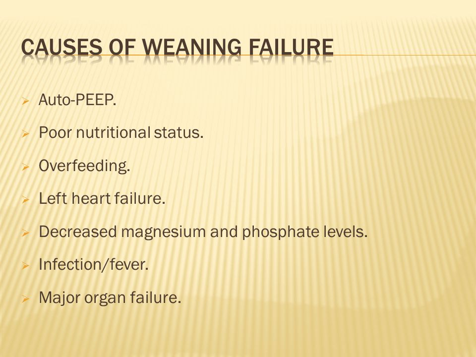 Causes of weaning failure