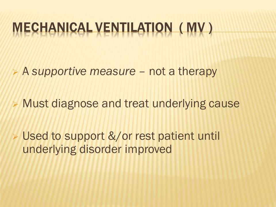 Mechanical Ventilation ( MV )