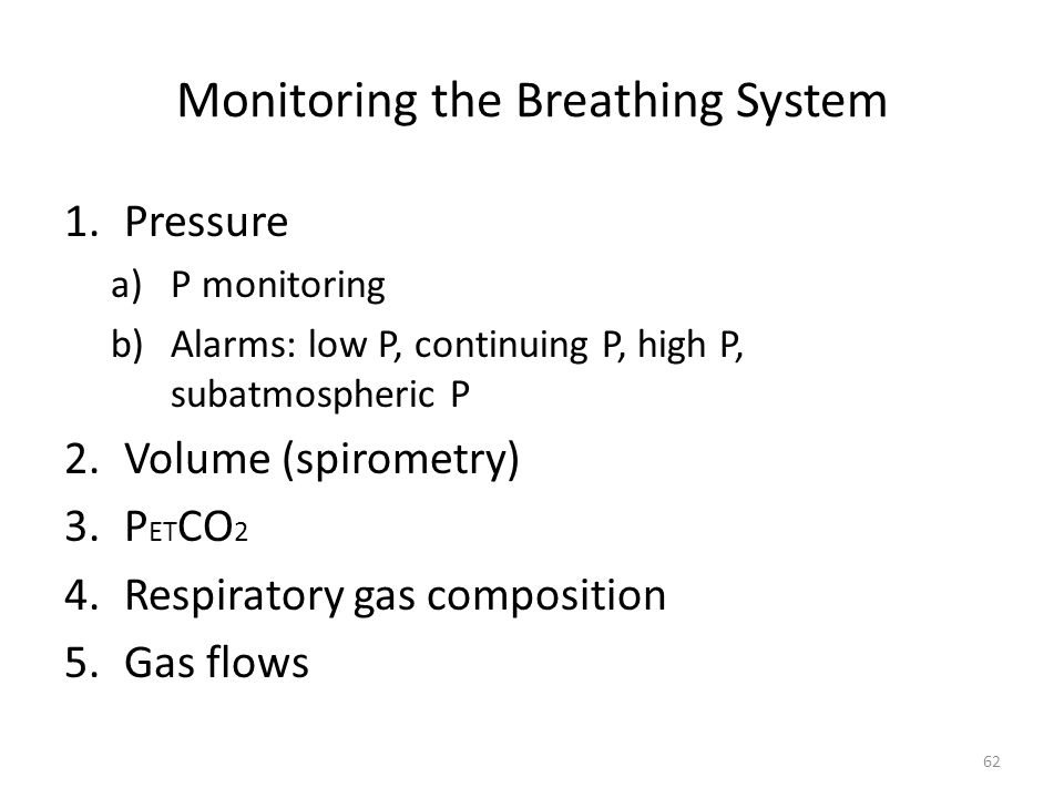 Monitoring the Breathing System