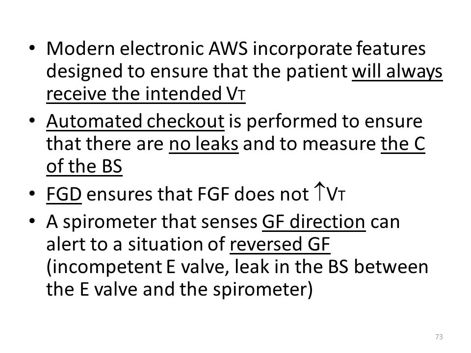 Modern electronic AWS incorporate features designed to ensure that the patient will always receive the intended VT