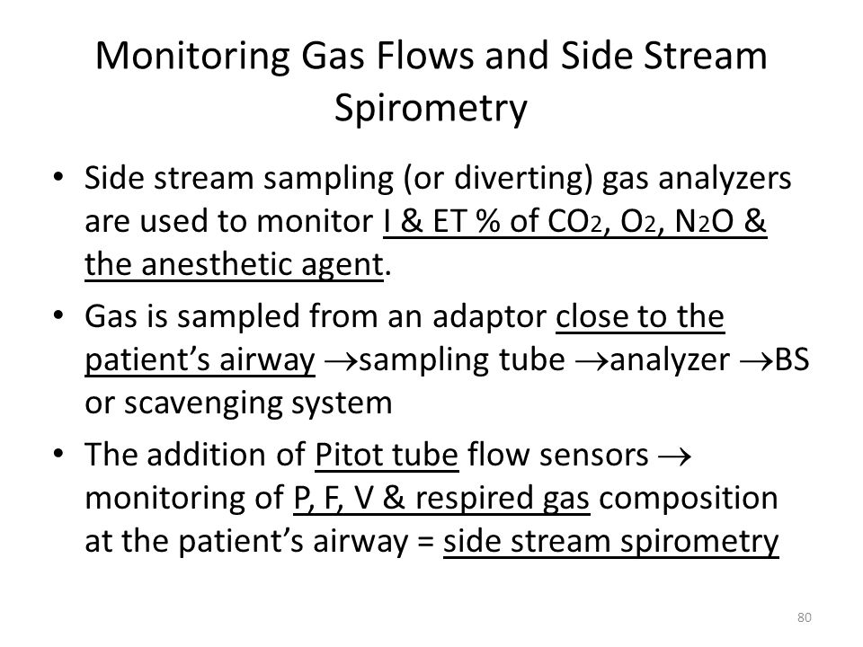 Monitoring Gas Flows and Side Stream Spirometry