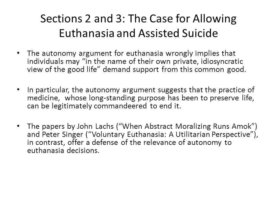 john lachs euthanasia John lachs vanderbilt university abstract this article has no associated abstract (fix it) keywords no keywords specified (fix it) categories no categories specified .