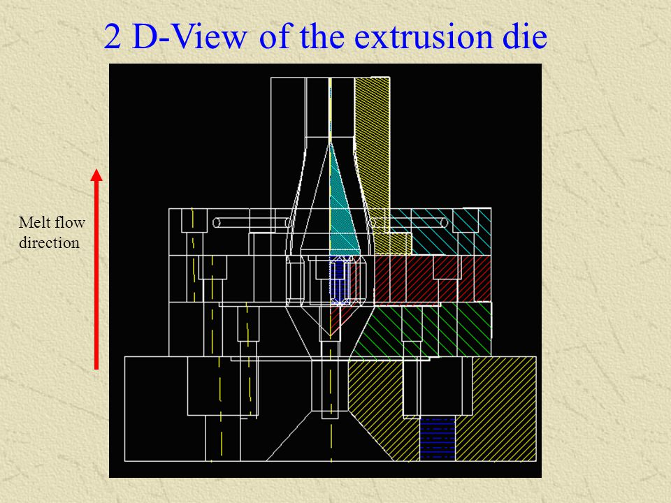 2 D-View of the extrusion die