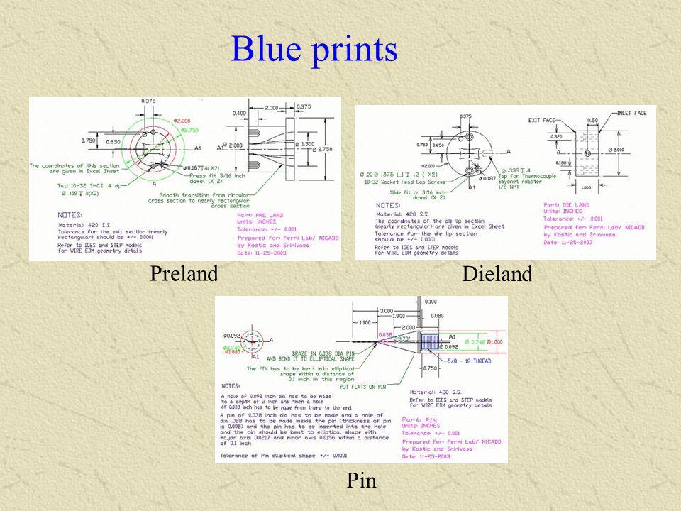 Blue prints Preland Dieland Pin
