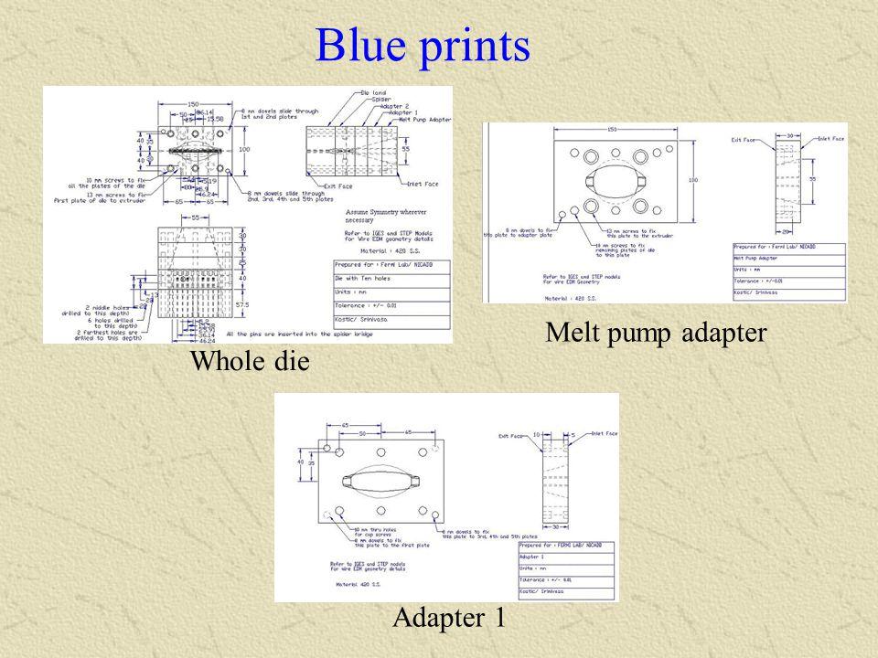 Blue prints Melt pump adapter Whole die Adapter 1