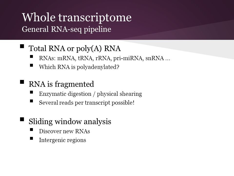 Whole transcriptome General RNA-seq pipeline