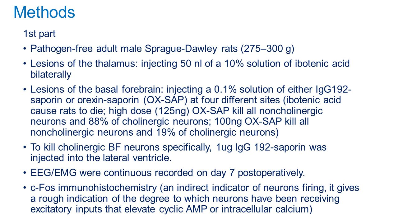 Methods 1st part. Pathogen-free adult male Sprague-Dawley rats (275–300 g)