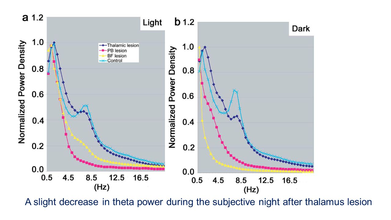 Figure 4. Normalized power spectra across 12 hours during either