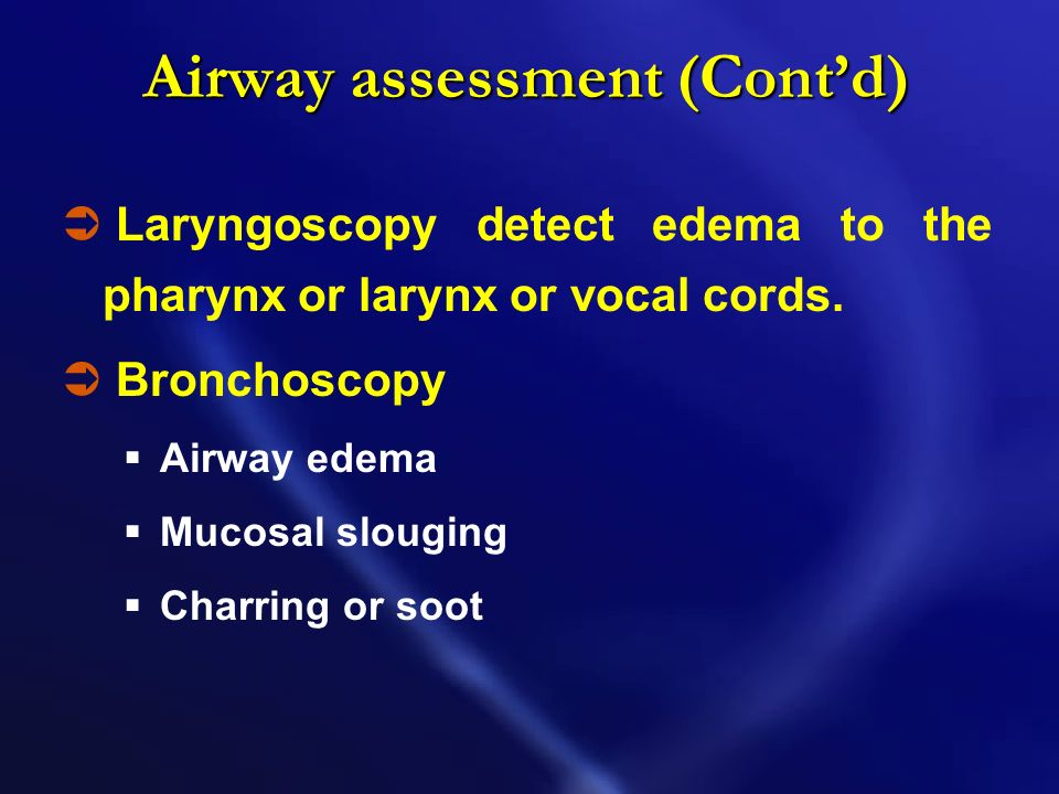 Airway assessment (Cont'd)