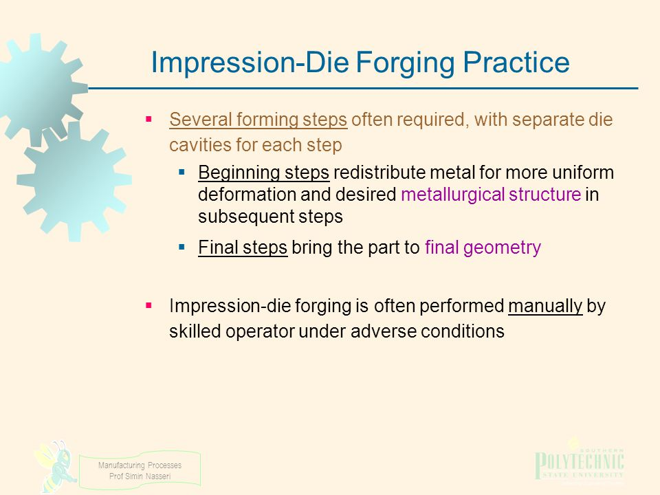 Impression‑Die Forging Practice