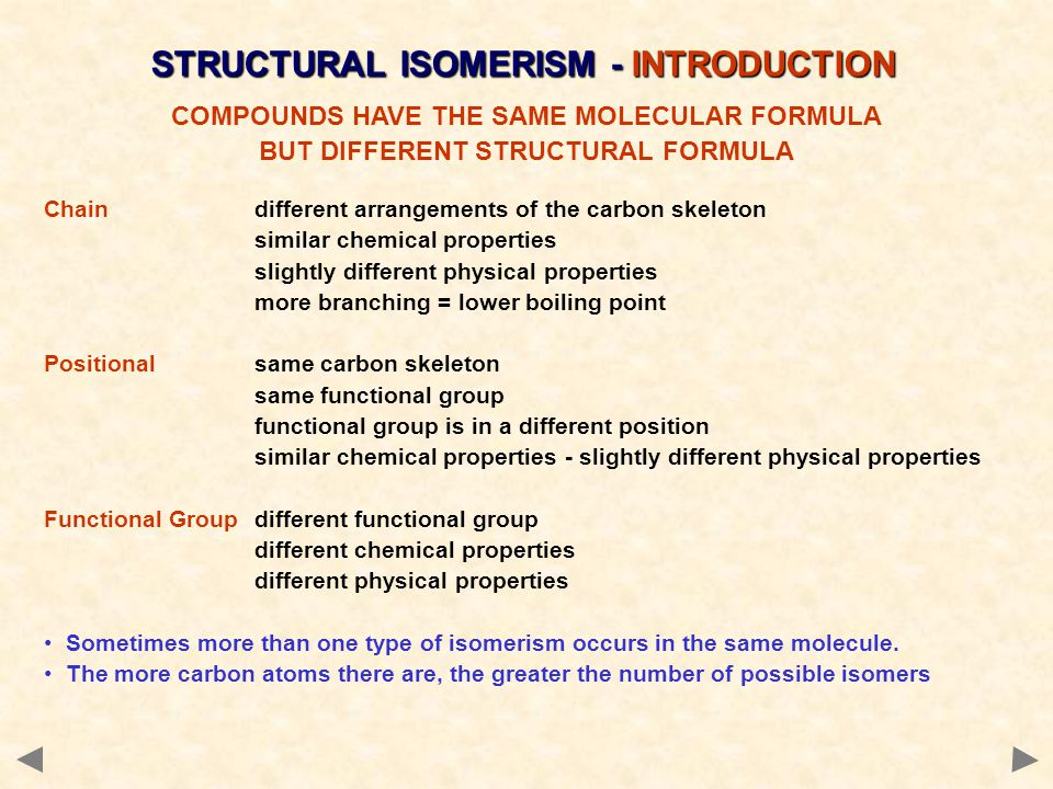STRUCTURAL ISOMERISM - INTRODUCTION