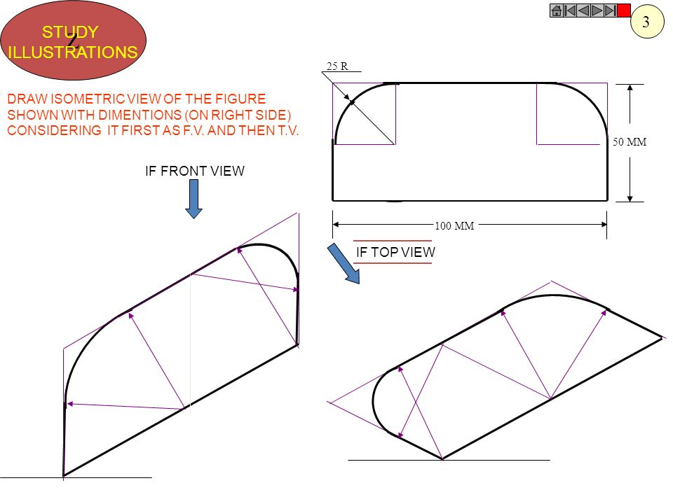 Z 3 STUDY ILLUSTRATIONS DRAW ISOMETRIC VIEW OF THE FIGURE