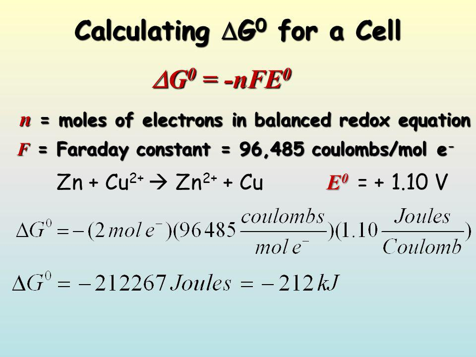 Calculating G0 for a Cell