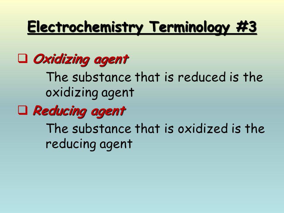 Electrochemistry Terminology #3
