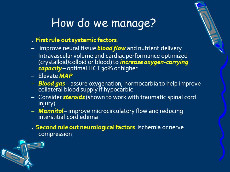 How do we manage . First rule out systemic factors: improve neural tissue blood flow and nutrient delivery.
