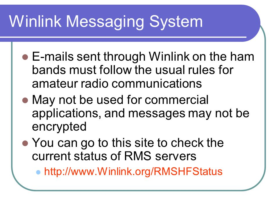 Winlink Messaging System