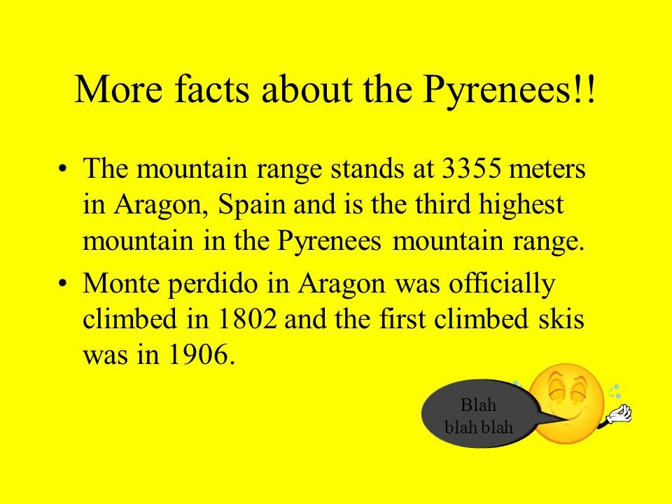 More facts about the Pyrenees!!