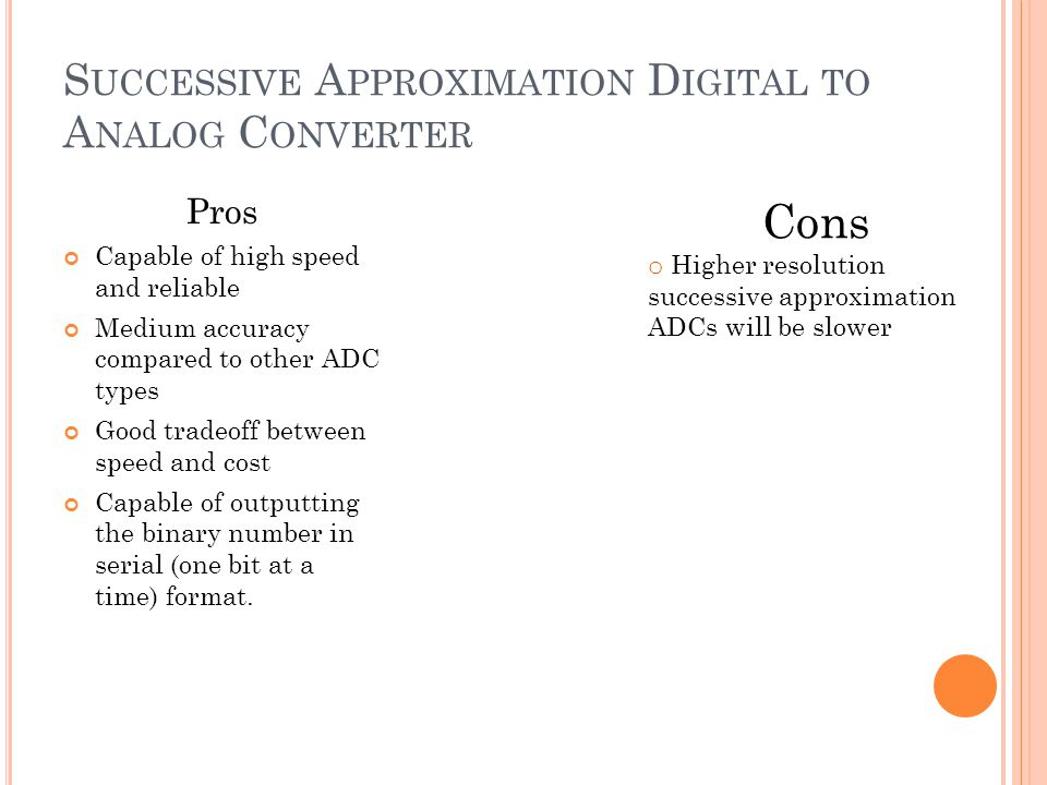 Successive Approximation Digital to Analog Converter