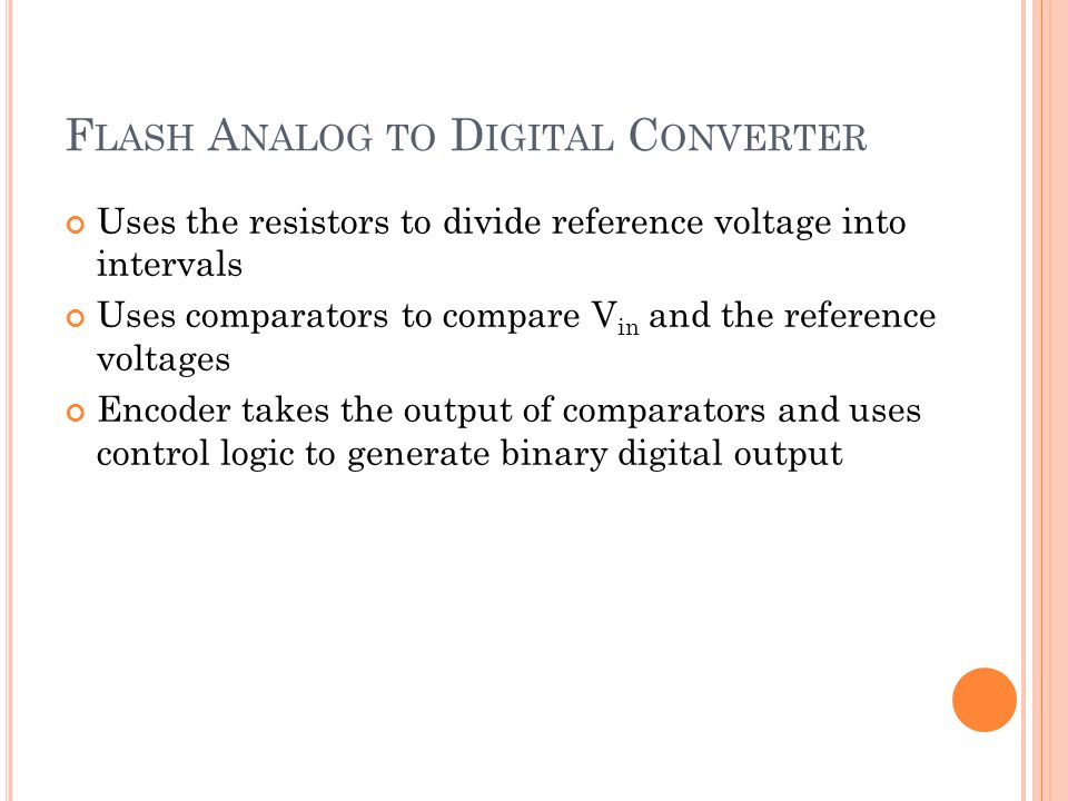 Flash Analog to Digital Converter