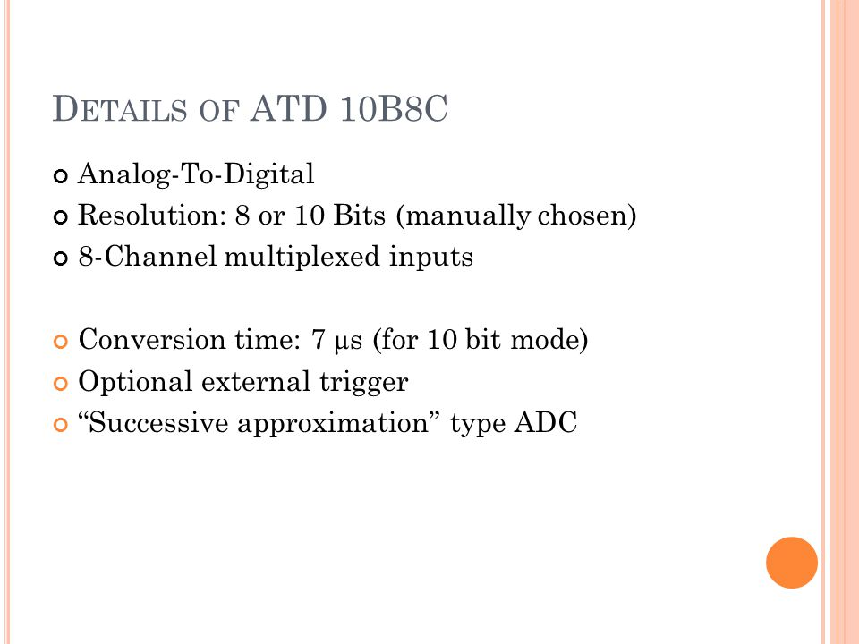 Details of ATD 10B8C Analog-To-Digital