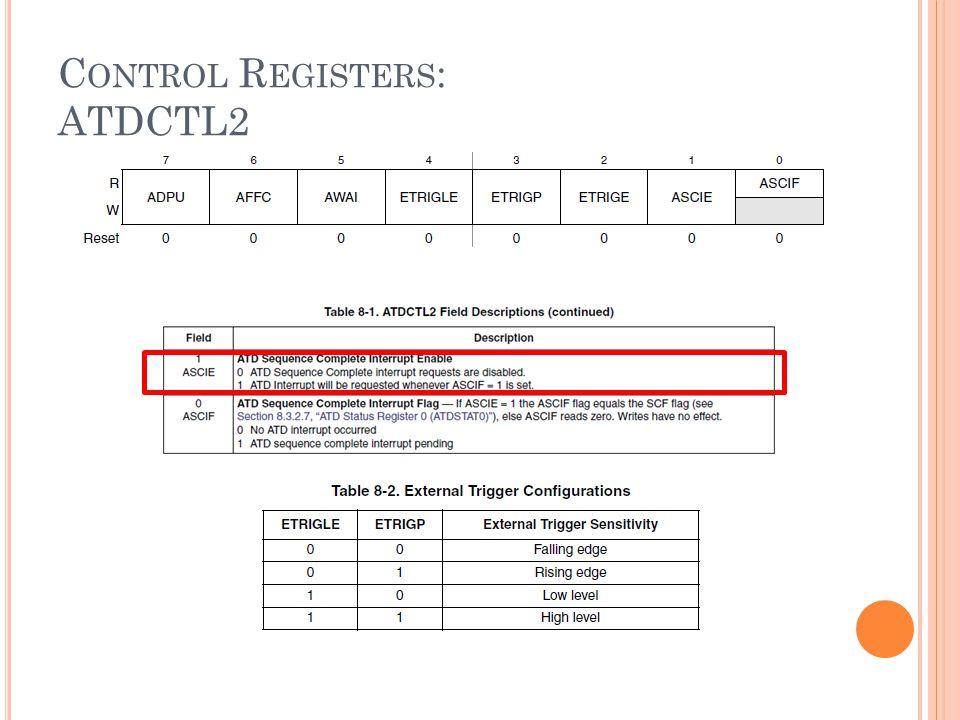 Control Registers: ATDCTL2