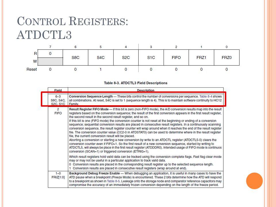 Control Registers: ATDCTL3