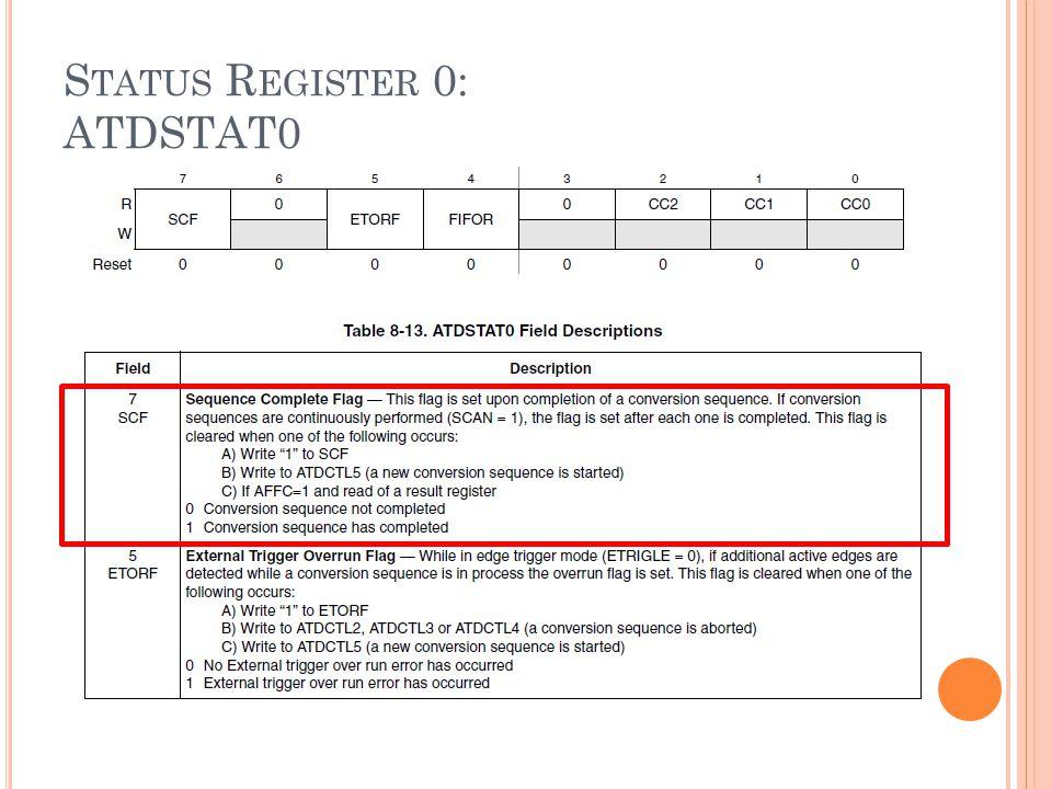 Status Register 0: ATDSTAT0