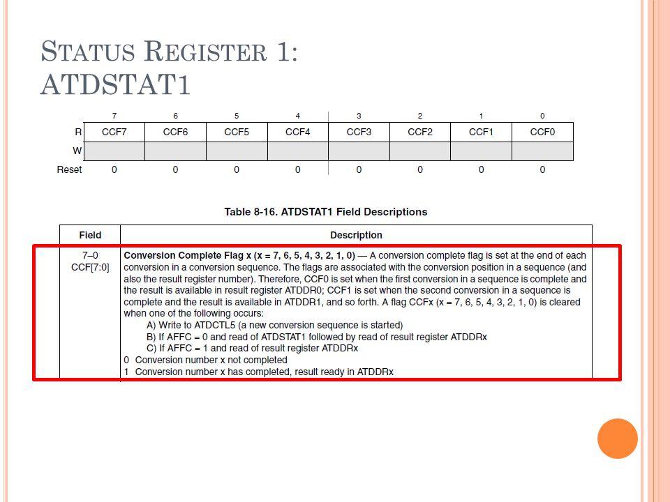 Status Register 1: ATDSTAT1