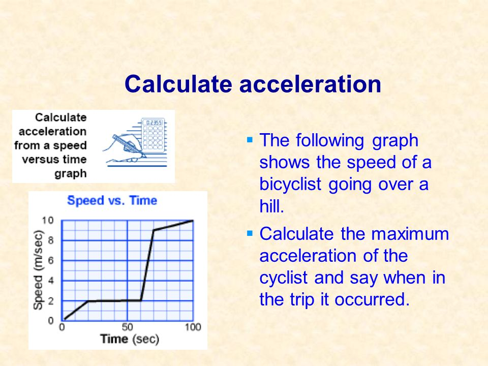 Calculate acceleration